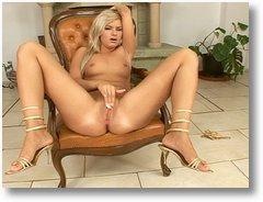 Petite blonde girl is dildoing her sweet pussymovie 2